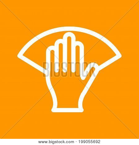 Hand, wipe, clean icon vector image. Can also be used for Cleaning Services. Suitable for use on web apps, mobile apps and print media.