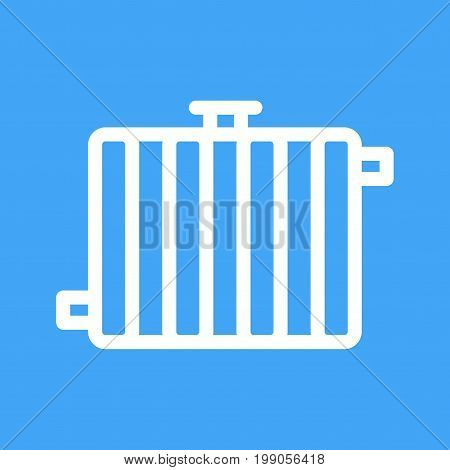 Radiator, heater, central icon vector image. Can also be used for Climatic Equipment. Suitable for use on web apps, mobile apps and print media.