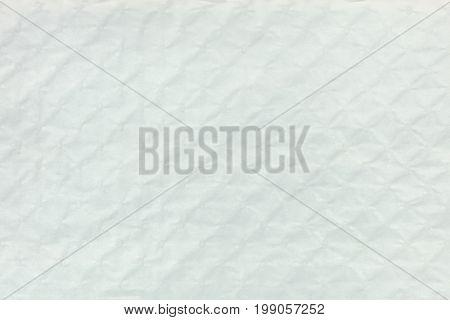 White Textured Bumpy Cardboard With Rhombus Pattern