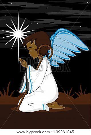 Praying Angel With Crook