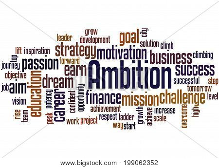 Ambition, Word Cloud Concept 4