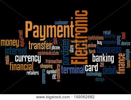 Electronic Payment, Word Cloud Concept 3