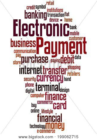 Electronic Payment, Word Cloud Concept 6