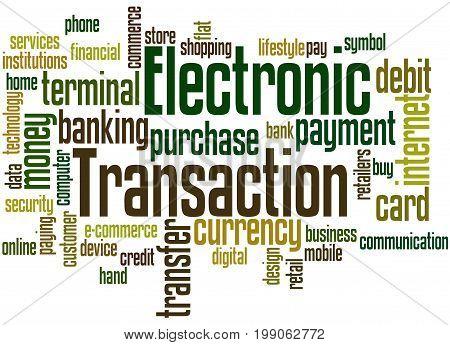 Electronic Transaction, Word Cloud Concept 6