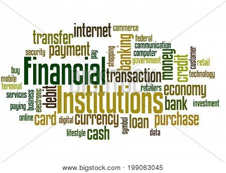 Financial Institutions, Word Cloud Concept 3