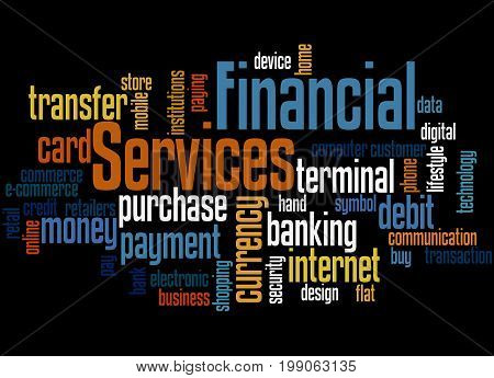 Financial Services, Word Cloud Concept 4