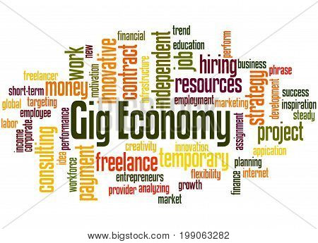 Gig Economy, Word Cloud Concept 4