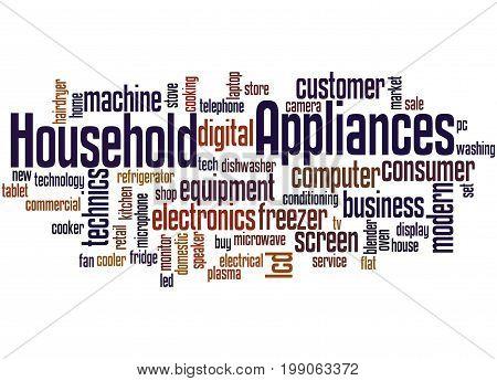 Household Appliances, Word Cloud Concept 4