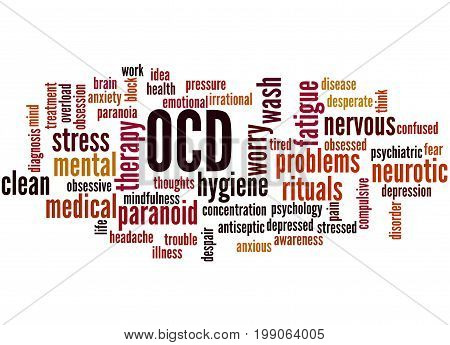 Ocd - Obsessive Compulsive Personality Disorder, Word Cloud Concept 2