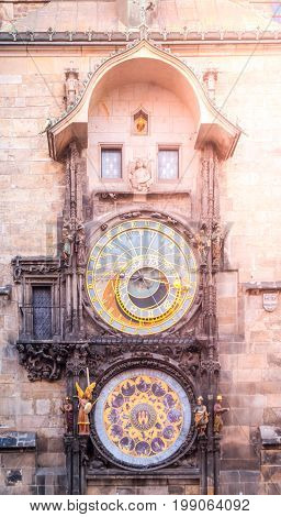Prague astronomical clock, aka Orloj, on Old Town Hall Tower, Old Town Square, Prague, Czech Republic.