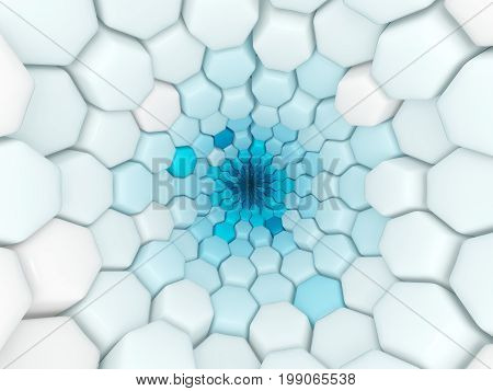 Blue And White Background With Industrial Pattern