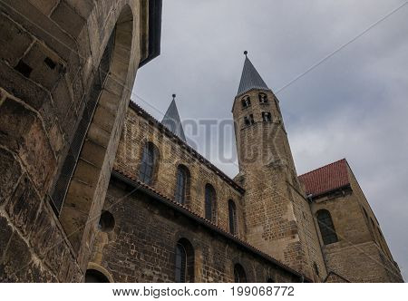 The Old And Ancient Church In Halberstadt, Germany