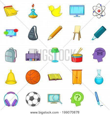 Instruction icons set. Cartoon set of 25 instruction vector icons for web isolated on white background