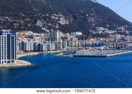 Many Luxury Condominiums on coast of Gibraltar UK