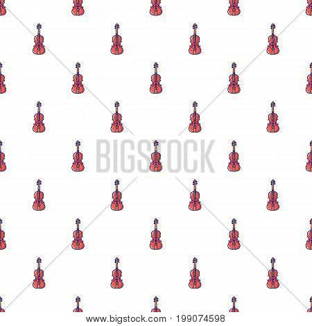 Violine pattern in cartoon style. Seamless pattern vector illustration