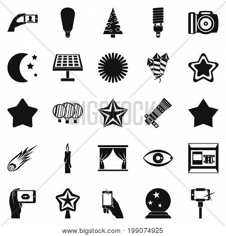 Spark icons set. Simple set of 25 spark vector icons for web isolated on white background