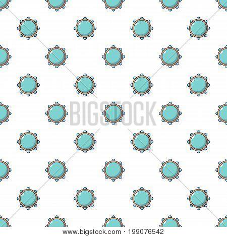 Little drums pattern in cartoon style. Seamless pattern vector illustration