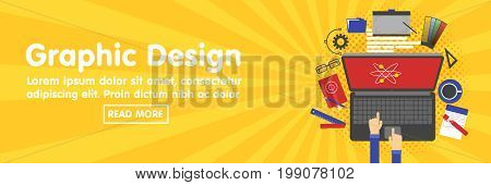 Graphic Design, Designer Tools And Software Banner Template