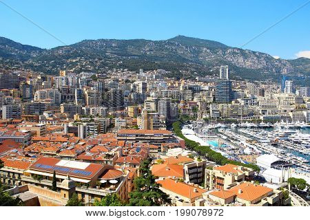 Hercule port and La Condamine district of Monaco