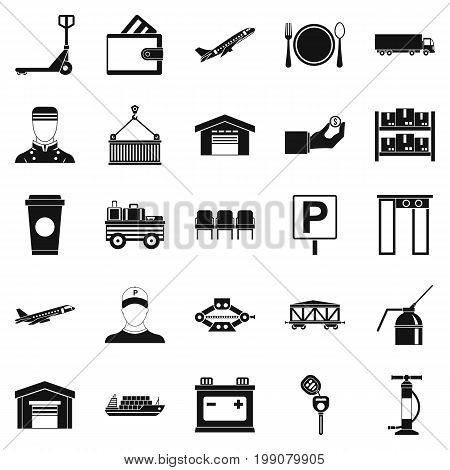 Charger icons set. Simple set of 25 charger vector icons for web isolated on white background