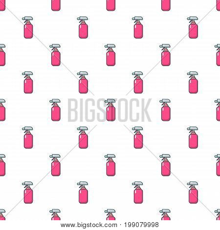 Fire extinguisher pattern in cartoon style. Seamless pattern vector illustration