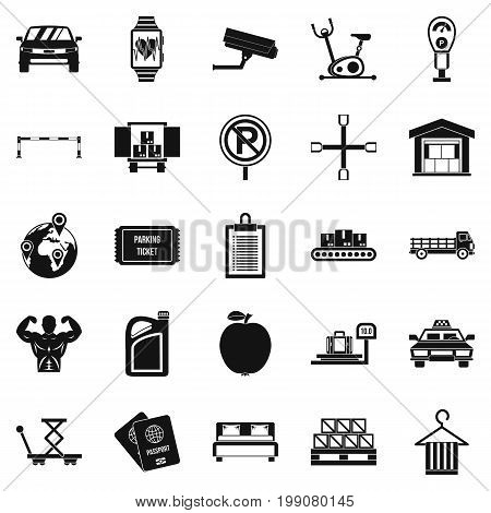 Porter icons set. Simple set of 25 porter vector icons for web isolated on white background
