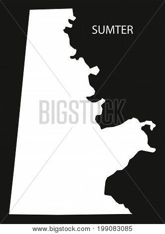 Sumter County Map Of Alabama Usa Black Inverted Illustration