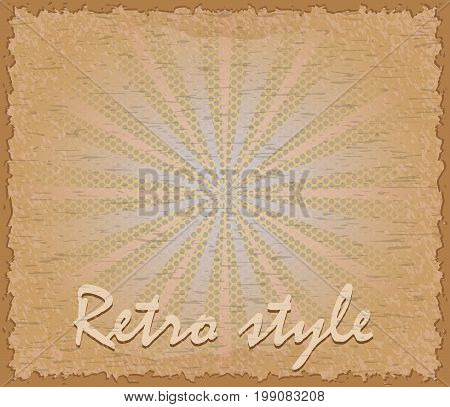 Retro Style Poster Horizontal Vector Illustration