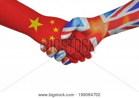 Handshake Between China And United Kingdom