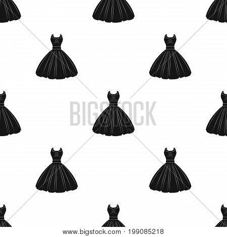 White fluffy wedding dress for a girl. Wedding wear.Women clothing single icon in black style vector symbol stock web illustration.