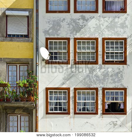 Facade of the Portuguese House in the City of Porto