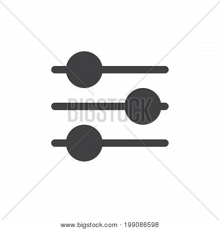 Settings sliders simple icon vector, filled flat sign, solid glyph isolated on white. Preferences symbol, logo illustration. Pixel perfect vector graphics