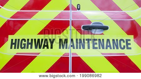 Highway Maintenance On The Back Of A Van
