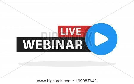 Free Webinar Play Online Button Vector Illustration