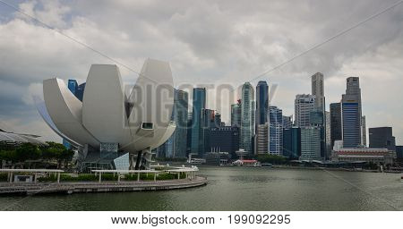 Modern Buildings In Marina Bay, Singapore