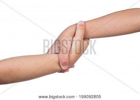 Helping Hands Of Two Children