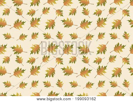 Autumn leaves illustration. Vector seamless pattern. Endless background can be used for wallpaper, textile and web page background.