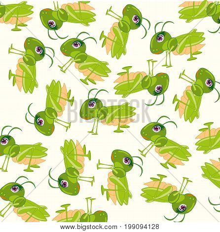 Much grasshoppers on white background is insulated