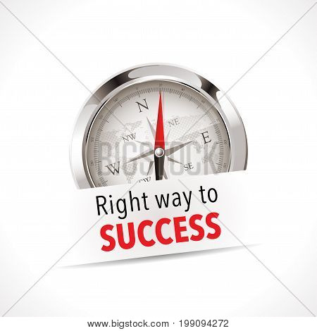Compass - Right way to success - business concept