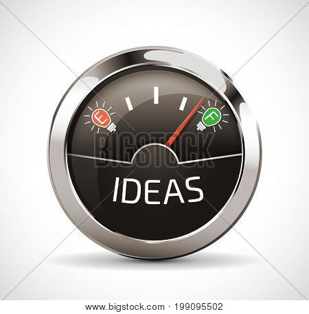 Empty or full - Ideas indicator concept
