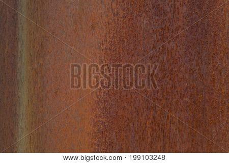 Closeup photo of a rusting metal surface.