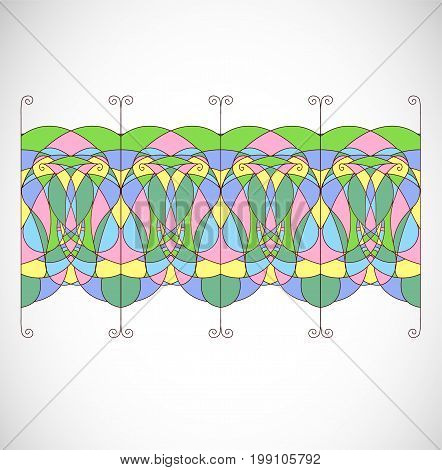 Abstract isolated colorful ornament. Illustration 10 version