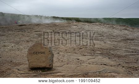 The Great Geysir / Stóri Geysir in Iceland - the second highest geyser in the world