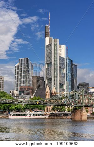 The CBD of Frankfurt Am Main in Germany