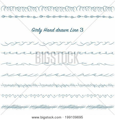 Girly Hand Drawn Decoration Line Set 03