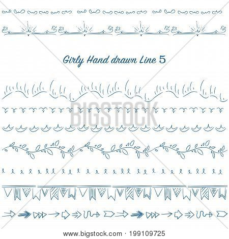Girly Hand Drawn Decoration Line Set 05