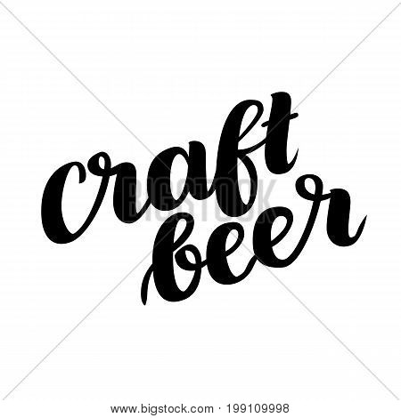 Craftbeer. Traditional German Oktoberfest bier festival. Vector hand-drawn brush lettering illustration isolated on white.
