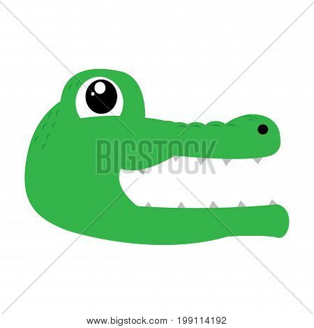isolated avatar of crocodile on a white background, vector illustration