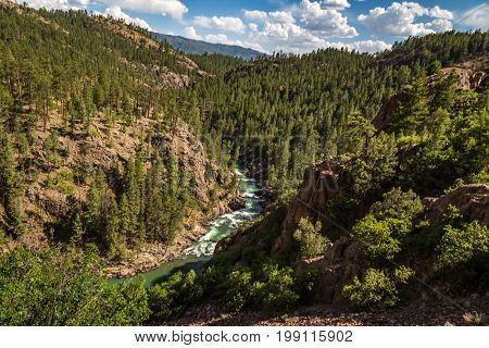 A train ride leaving from Rockwood Depot along the Animas River outside of Durango Colorado.