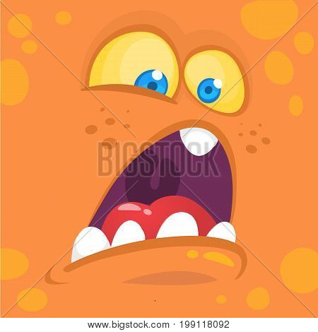 Monsters face cartoon creature avatar illustration vector stock